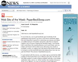ABC News : Web Site Of The Week: PaperBackSwap.com