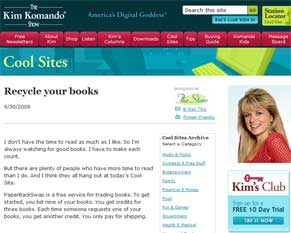 The Kim Komando Show : Recycle Your Books