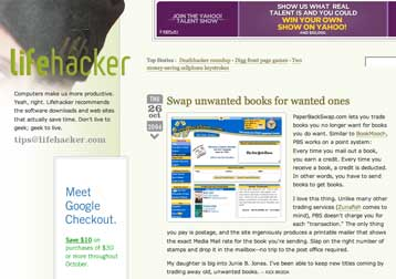Life Hacker : Swap Unwanted Books For Wanted Ones