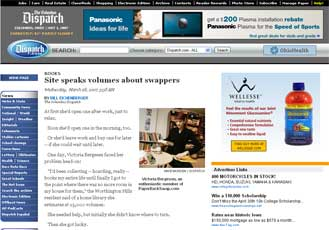 The Columbus Dispatch : Site Speaks Volumes About Swappers
