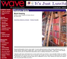 The Wave Magazine : Book Keeping