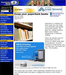 WNCT-TV 9 : Swap Your Paperback Books