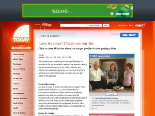 The Today Show : Love Freebies? Check Out This List Click On These Web Sites Where You Can Get Goodies Without Paying A Dime