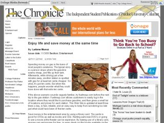 The Chronicle : Enjoy Life And Save Money At The Same Time