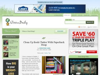 Green Daily : Clean Up Book Clutter With Paperback Swap