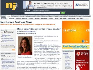 The Star-Ledger/New Jersey : Book-smart Ideas For The Frugal Reader